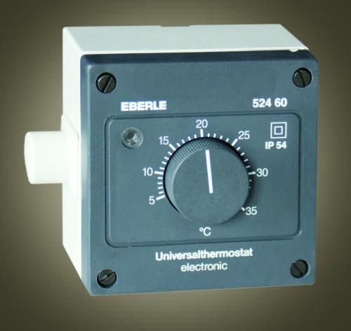 Průmyslový nástěnný prostorový termostat 5°... 35°C EBERLE AZT-A524510